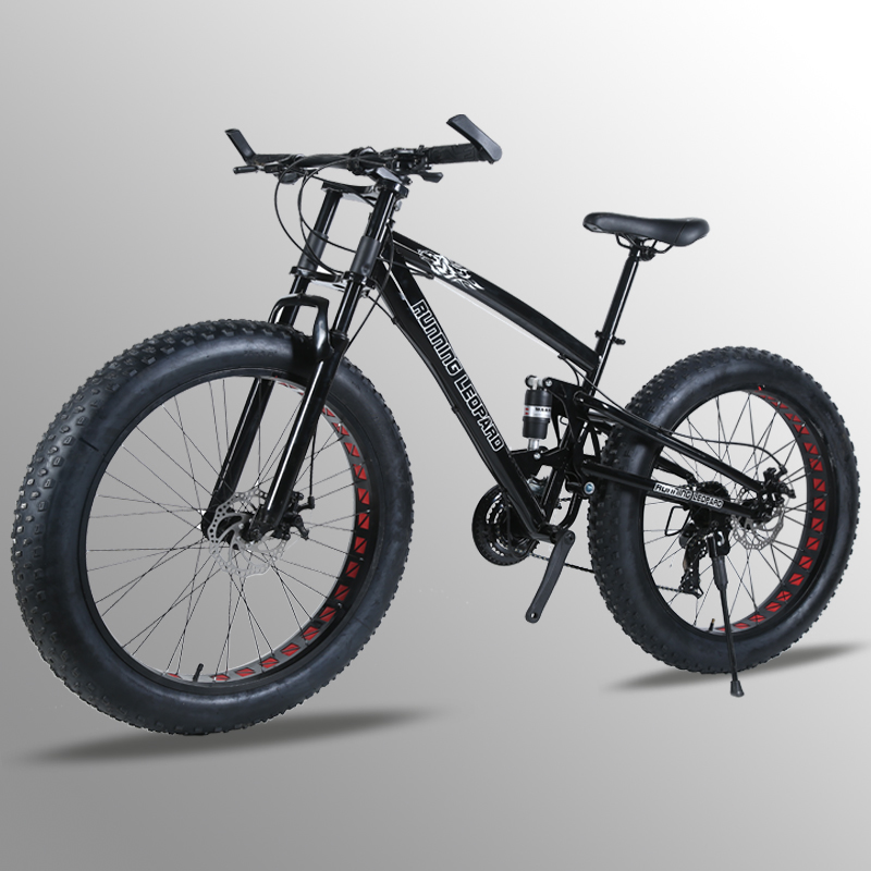 7/24/27 Speed 26x4.0 Fat bike Mountain Bike Snow Bicycle Shock Suspension Fork bicicleta Front and Rear Mechanical Disc Brake bicycle 27 5 inches 24speed mountain bike aluminum alloy frame road bike front and rear mechanical disc brake spring fork