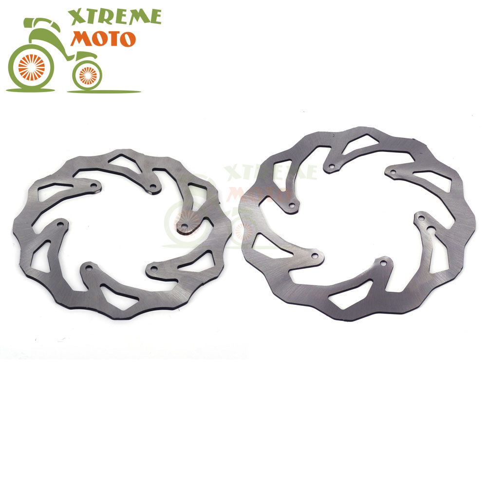 Front Rear Wavy Brake Disc Rotor Set For Husaberg MX Enduro All Models 00-08 Motocross Motorcycle Supermoto Off Road Dirt Bike high quality 270mm oversize front mx brake disc rotor for yamaha yz125 yz250 yz250f yz450f motorbike front mx brake disc