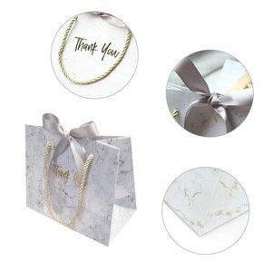 Image 2 - Avebem saco de presente estilo europeu, 10 unidades de mármore criativo, caixa de presente de casamento, lembranças de casamento e sacos de doces para hóspedes