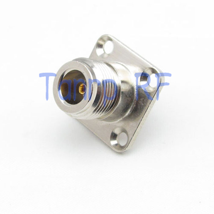 ФОТО 10PCS /LOTS Wholesale N female jack to SMA female jack 4 hole panel RF coaxial connector adapter cable