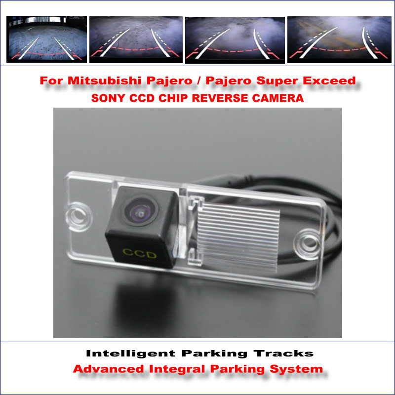 Backup Reverse Camera For Mitsubishi Pajero / Pajero Super Exceed / HD 860 * 576 Pixels 580 TV Lines Intelligent Parking Tracks Mitsubishi Pajero