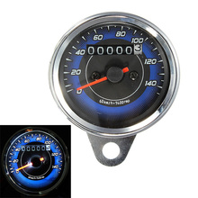 Universal de La Motocicleta LED Del Velocímetro Del Odómetro Del Medidor de Doble Contador de Calibre de 0-140 Km/h