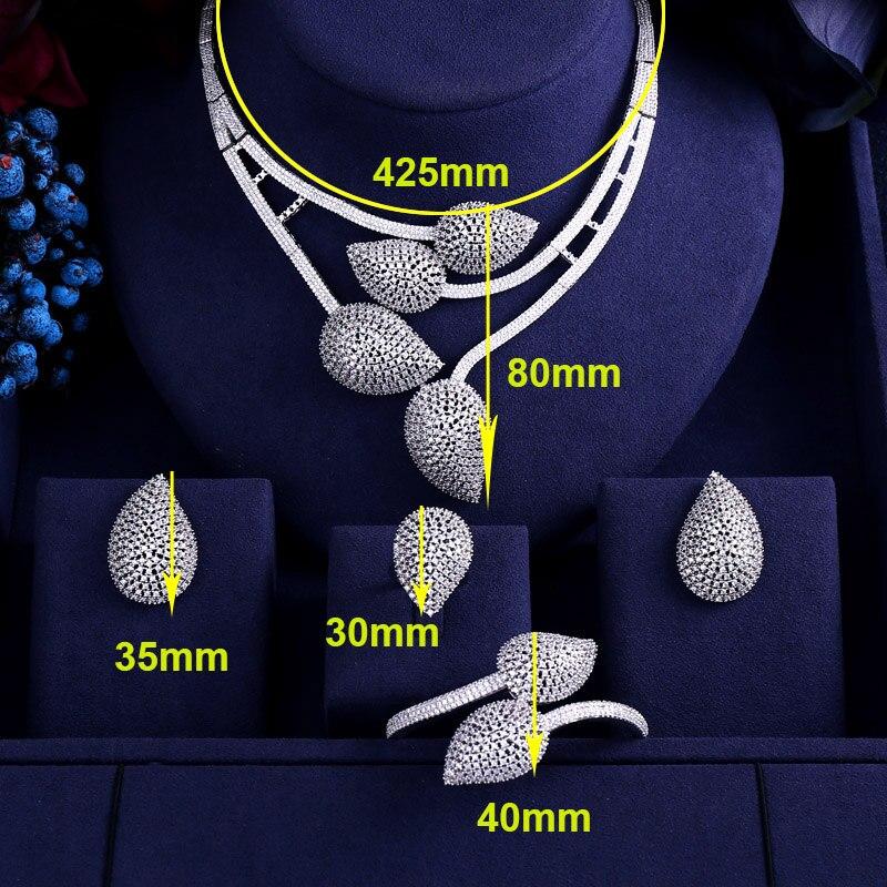 jankelly 2 Tones 4pcs Bridal Zirconia Jewelry Sets For Women Party, god ki Luxury Dubai Nigeria CZ Crystal Wedding Jewelry Sets