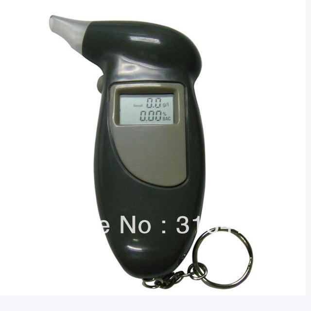 5pcs/lot LCD Digital Alcohol Tester Key Chain Breathalyzer Breath Analyze Free Shipping