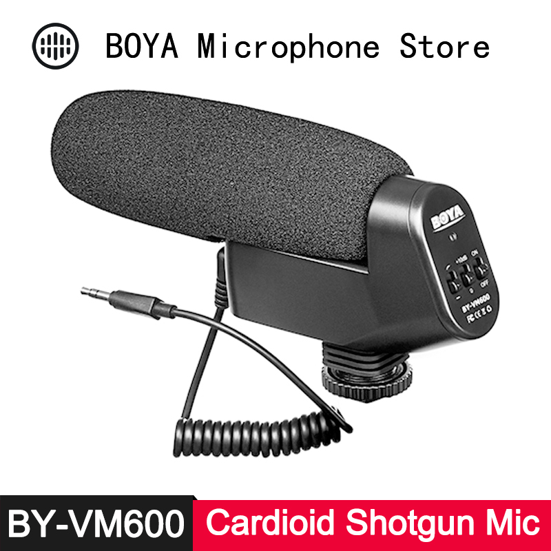 BOYA Microphone Shotgun-Condenser Camcorder Dslr-Camera Video-Recording Directional Canon