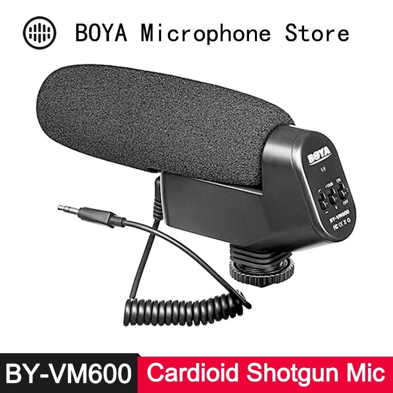 BOYA BY-VM600 Cardioid Directional Shotgun Condenser Microphone For Canon Nikon Sony DSLR Camera DV Camcorder Video Recording