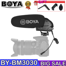 BOYA BY-BM3030 Microphone Shoutgun Microphone On Camera 3.5mm Hypercardioid Video Mic Interview ENG for Canon Nikon DSLR Cameras ulanzi professional rode videomic go microphone on camera vlogging shotgun mic vmgo free deadcat windshield for nikon canon dslr