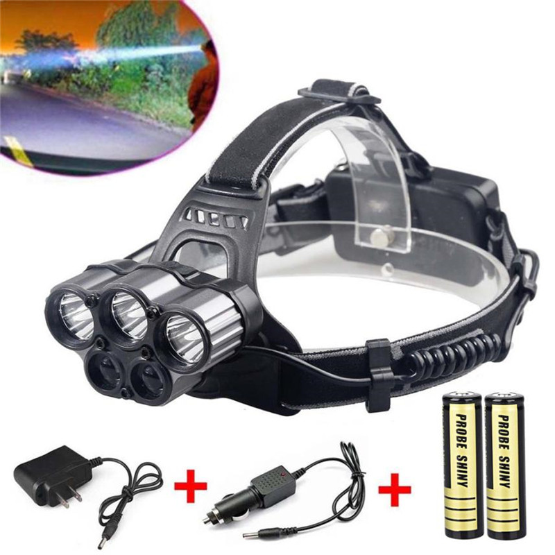 Flashlight on a Bicycle headlight LED Rechargeable 6 Modes 18650 Headlamp Head Light Torch Bicycle accessories for bicycle #2