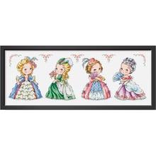 Fishxx напечатанный на холсте DMC Счетный китайский набор вышивки крестиком набор вышивка рукоделие Европейская ретро девушка
