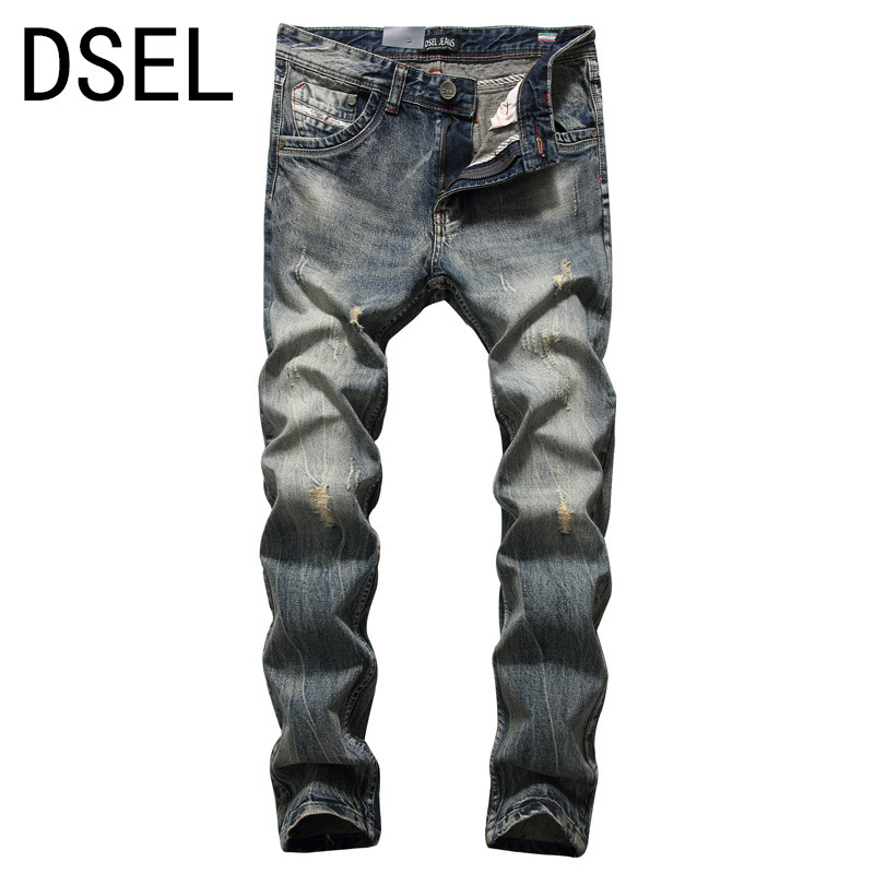 Dsel High Quality Recommend Mens Jeans Denim Pants Regular Fit Jeans Men New Famous Brand  Jeans With Logo Plus Size 2017 slim fit jeans men new famous brand superably jeans ripped denim trousers high quality mens jeans with logo ue237