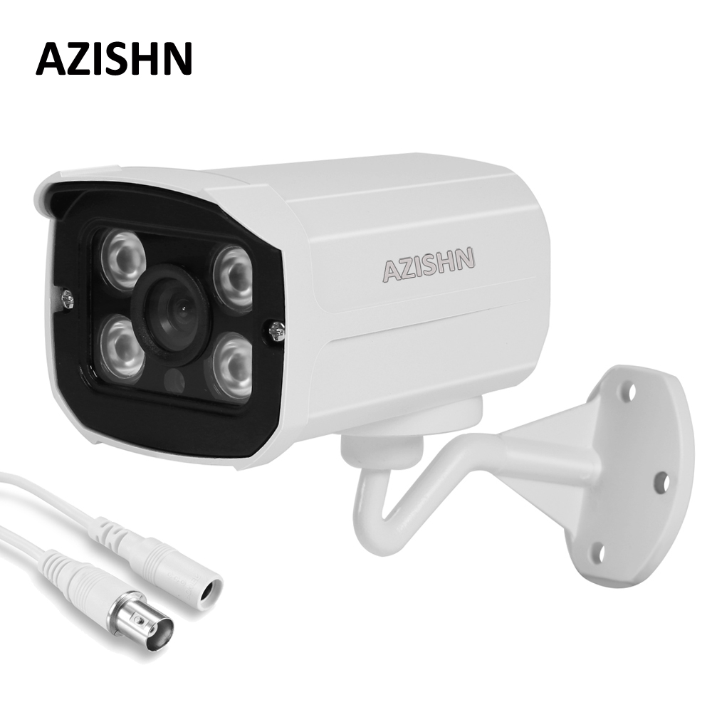 AZISHN Hot HD 1080P 720P AHD Security Camera Outdoor Waterproof 4pcs Array infrared Night Vision Metal Bullet CCTV  Surveillance wistino cctv camera metal housing outdoor use waterproof bullet casing for ip camera hot sale white color cover case