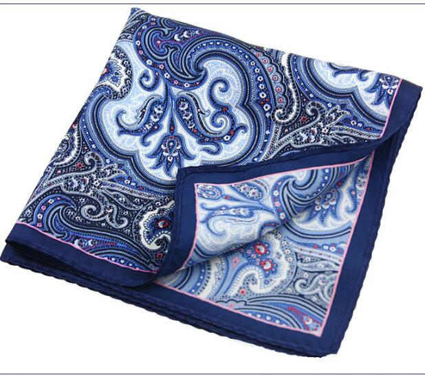 35*35CM Mens Pocket Squares 100% Silk Suit-pocket-handkerchief 20 Style HKY 3561