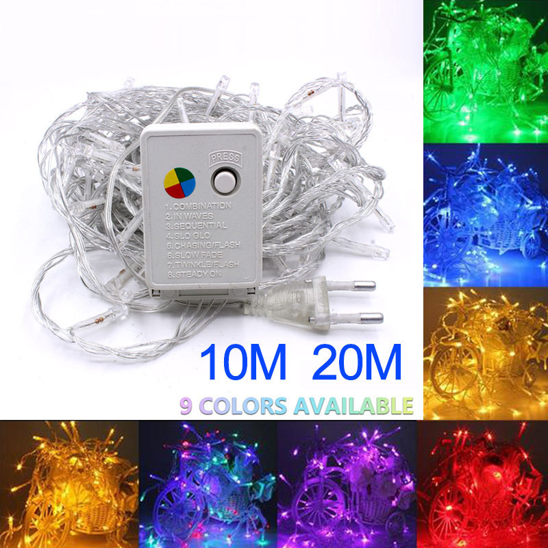 Lowest Price 2/5/10M 10-100 LED Christmas Garland Wire LED String Lamp Fairy Lights For Indoor New Year Xmas Wedding Decoration(China)