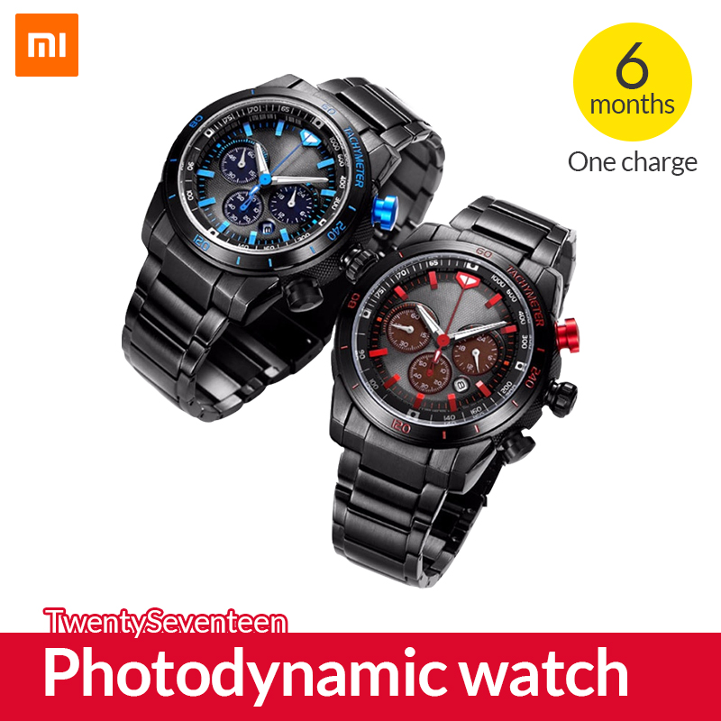 Original Xiaomi TwentySeventeen Photodynamic watch Smart watch With Sapphire Surface and Japanese movement Sports watch-in Smart Watches from Consumer Electronics    1