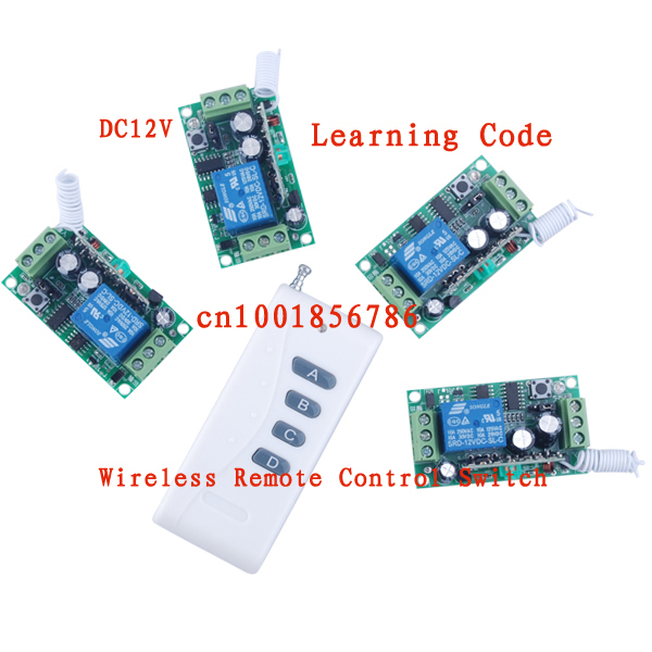 12V Wireless Switch 1000M RF Wireless Remote Controller 4 Receiver 1 Transmitter Mini M4/T4/L4 adjusted add controller freely m3 m4 5a m3 touch rf remote with m4 5a cv receiver led dimmer controller dc5v dc24v input 5a 4ch max 20a output