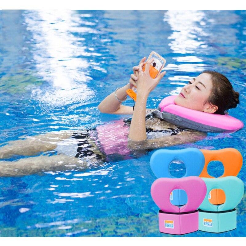 2018 nuevo Anillo de Natación ejercicio flotante EPE cinturón y Collar flotador traje de baño para niños adultos natación aprendizaje