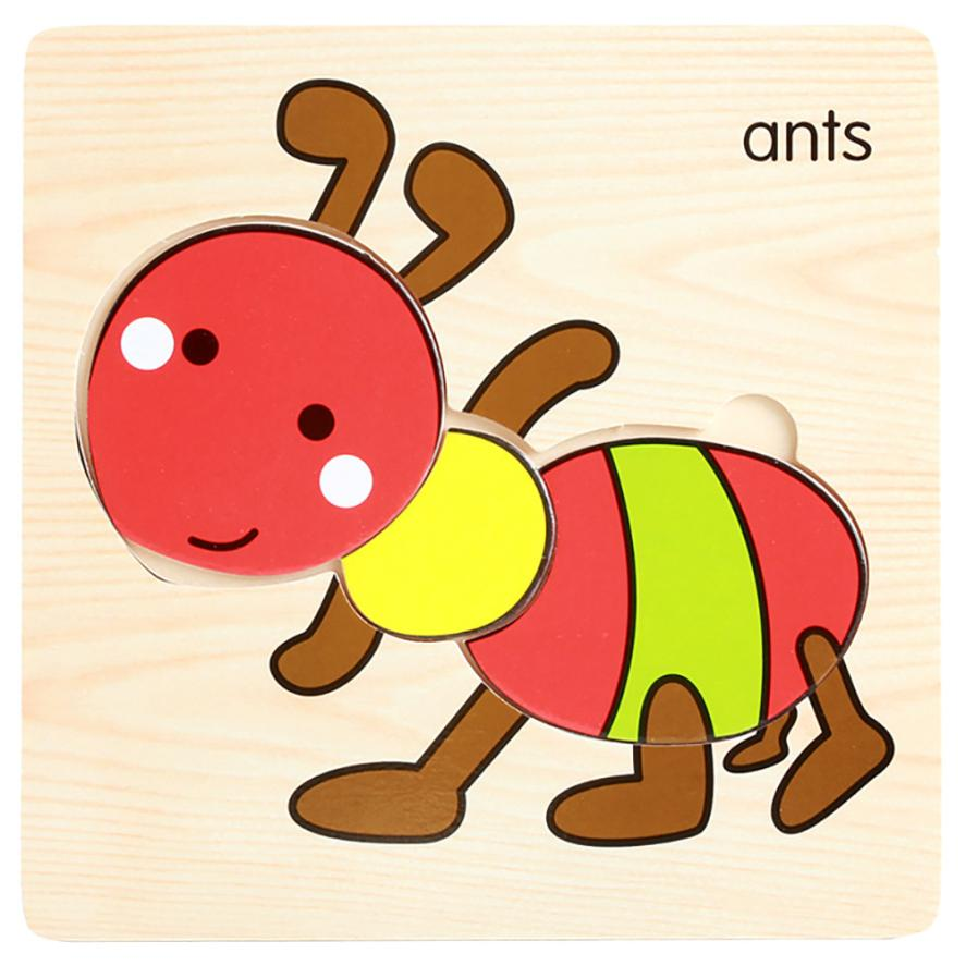 2017 New Lovely Children Favourite Wooden Puzzle Educational Developmental Baby Kids Training Toy Educational Gift