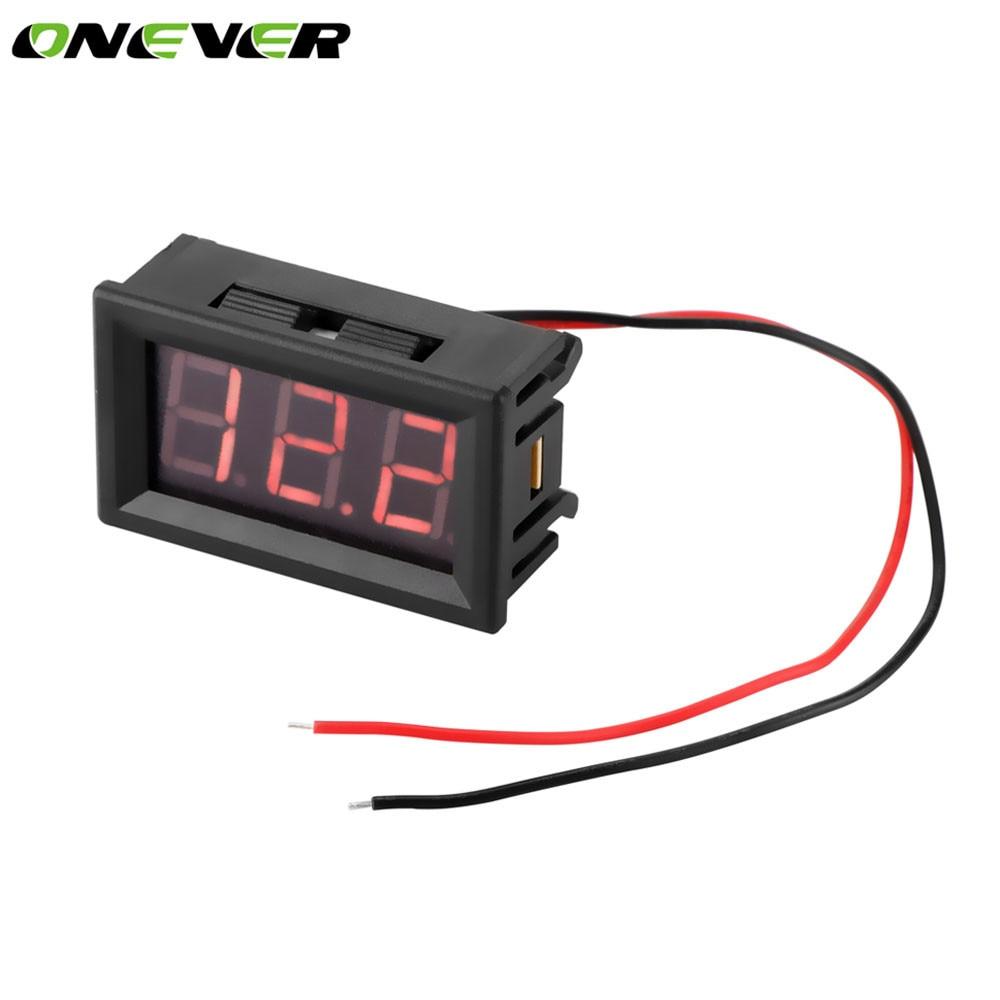 US $1.43 28% OFF|2 Wire Mini Universal Car Digital Voltmeter Gauge on