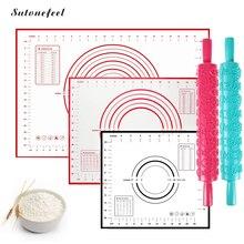 26 дизайнов силиконовый коврик для выпечки антипригарный коврик для раскатки теста высокое качество кондитерский коврик инструменты для замеса теста кухонные аксессуары