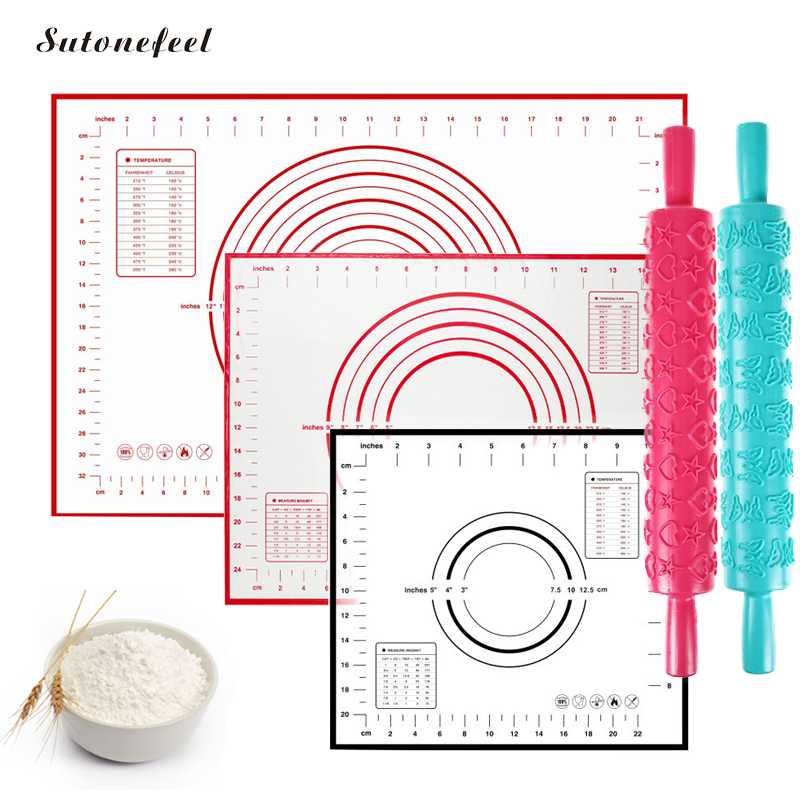 26 Designs Silicone Baking Mat Nonstick Rolling Dough Mat High Quality Pastry Pad Kneading Dough Tools Kitchen Accessories