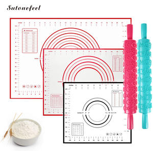 sutonefeel Silicone Baking Mat Pastry Kneading Dough