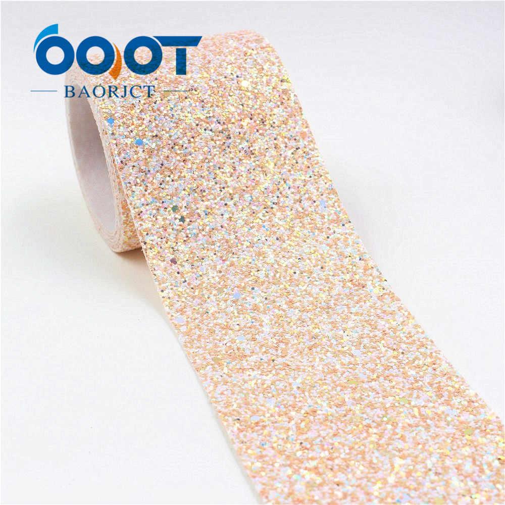 Ooot baorjct I-19226-483, 75mm, 2 jardas coloridas fitas de filme flash, decoração de casamento, acessórios de vestuário, diy materiais artesanais