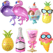 Birthday Balloons Flamingo/Pineapple/Beer cup Foil Balloon Birthday Decoration Kids Adult Party Beach Party Helium Air Globos(China)