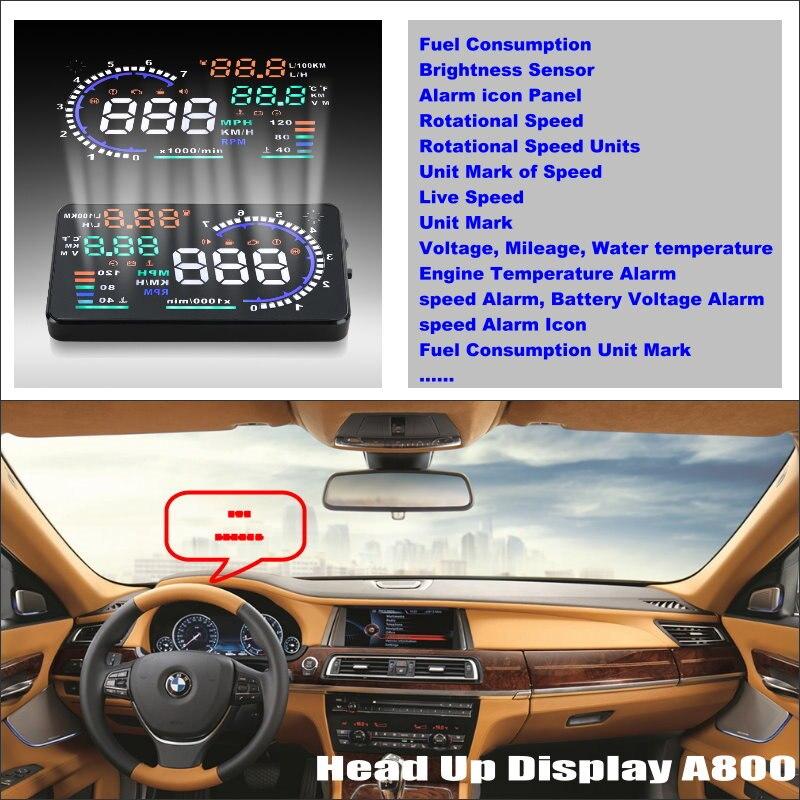 ФОТО Car HUD Head Up Display For BMW 7 E65 E66 E67 E68 F01 F02 Refkecting Windshield Screen Safe Driving Screen Projector