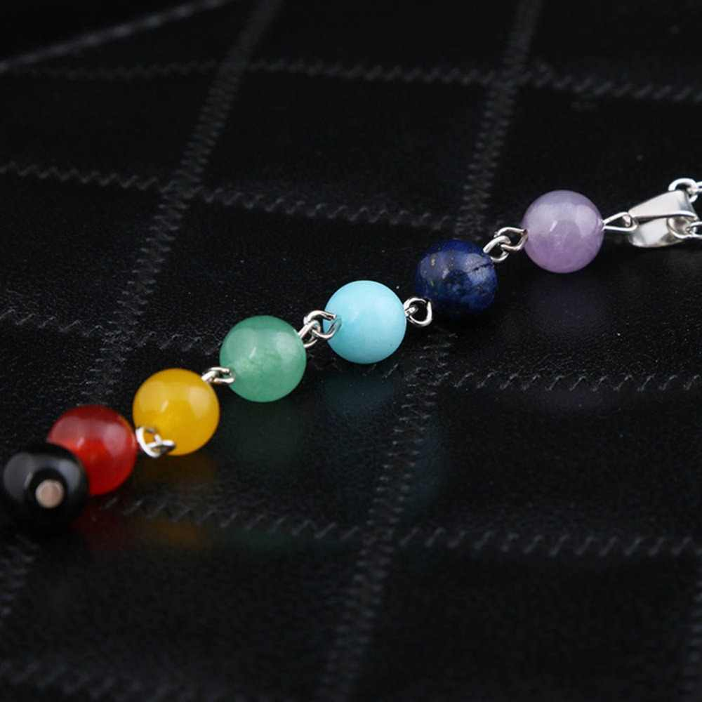 2016 New Charming Jewelry Retro Colorful Seven Bohemian Beads 9.5CM  Necklace 50+5CM  Drop Shipping NL0200