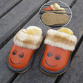 Cute Kids Slippers Children Home Shoes For Boys Girls Indoor Bedroom Baby Fur Warm Winter Cotton Slipper Child Soft Bottom Flats
