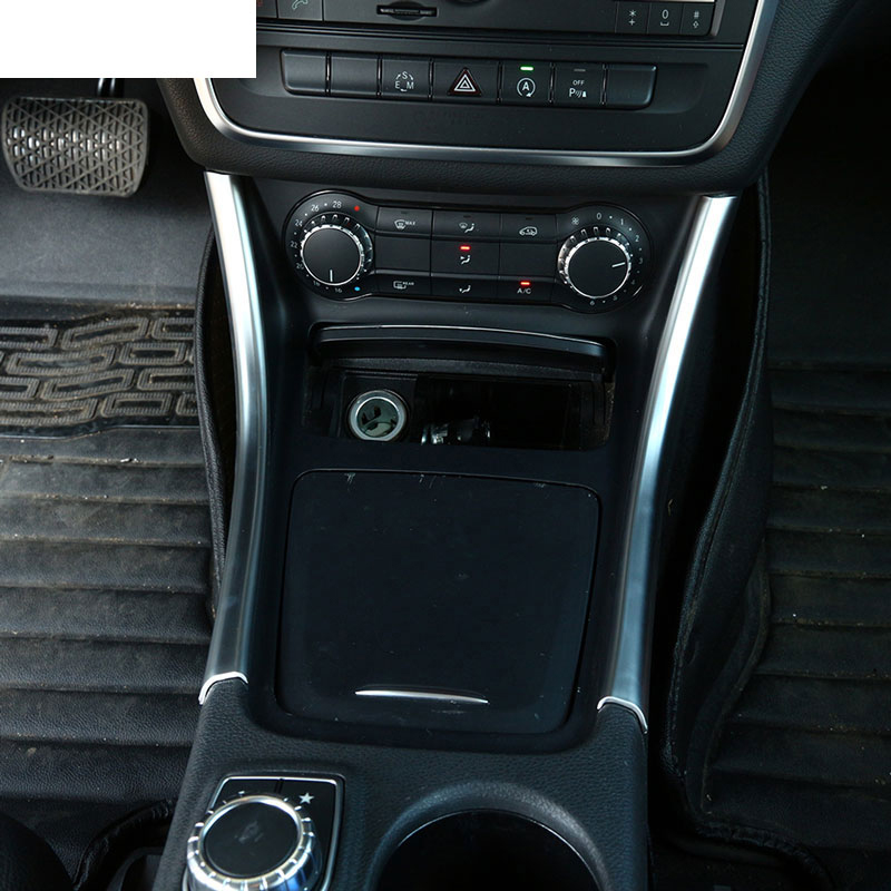 2pcs Chrome Center Console Panel Trim Sticker Decoration For Mercedes Benz A/GLA/CLA Class 200 220 260  W176 A180 Car Accessory Mercedes-Benz CLA-класс