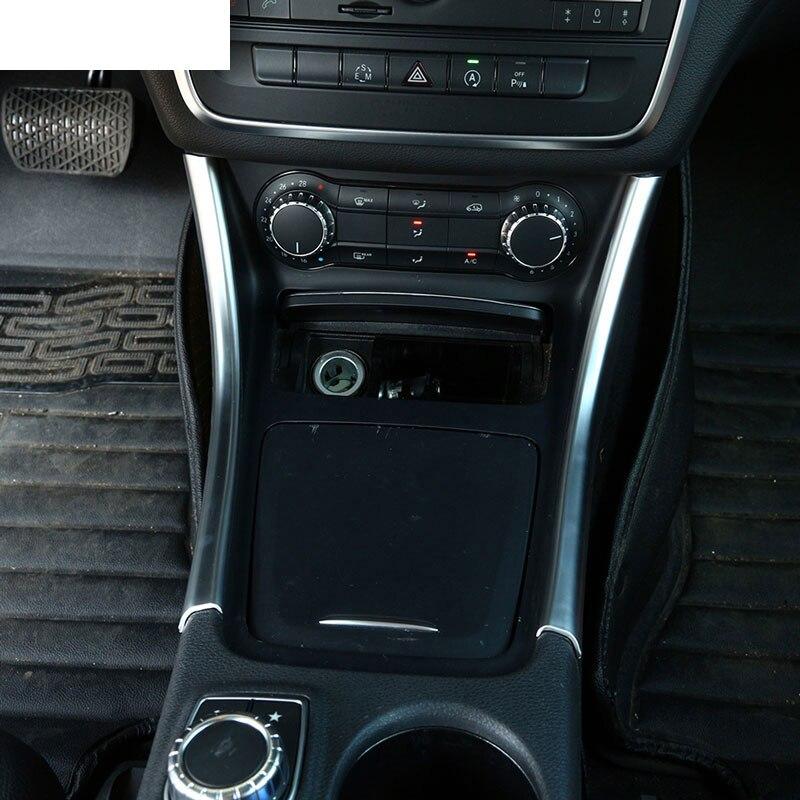 Prix pour 2 pcs Chrome Center Console Panneau Garniture Autocollant Décoration Pour Mercedes Benz A/GLA/CLA Classe 200 220 260 W176 A180 De Voiture Accessoire