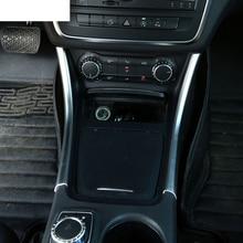 2pcs Chrome Center Console Panel Trim Sticker Decoration For Mercedes Benz A GLA CLA Class 200