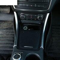 2pcs Chrome Center Console Panel Trim Sticker Decoration For Mercedes Benz A/GLA/CLA Class 200 220 260 W176 A180 Car Accessory