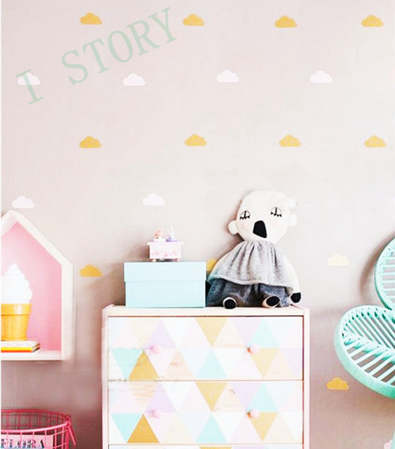 Gold Polka Dots Vinyl Wall Decals Dot Stickers