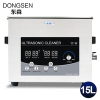 15L Ultrasonic Cleaner Bath Heat Time Adjustment Car Parts PCB Board Mold Metal Hardware Glassware Degreasing Washer Machine