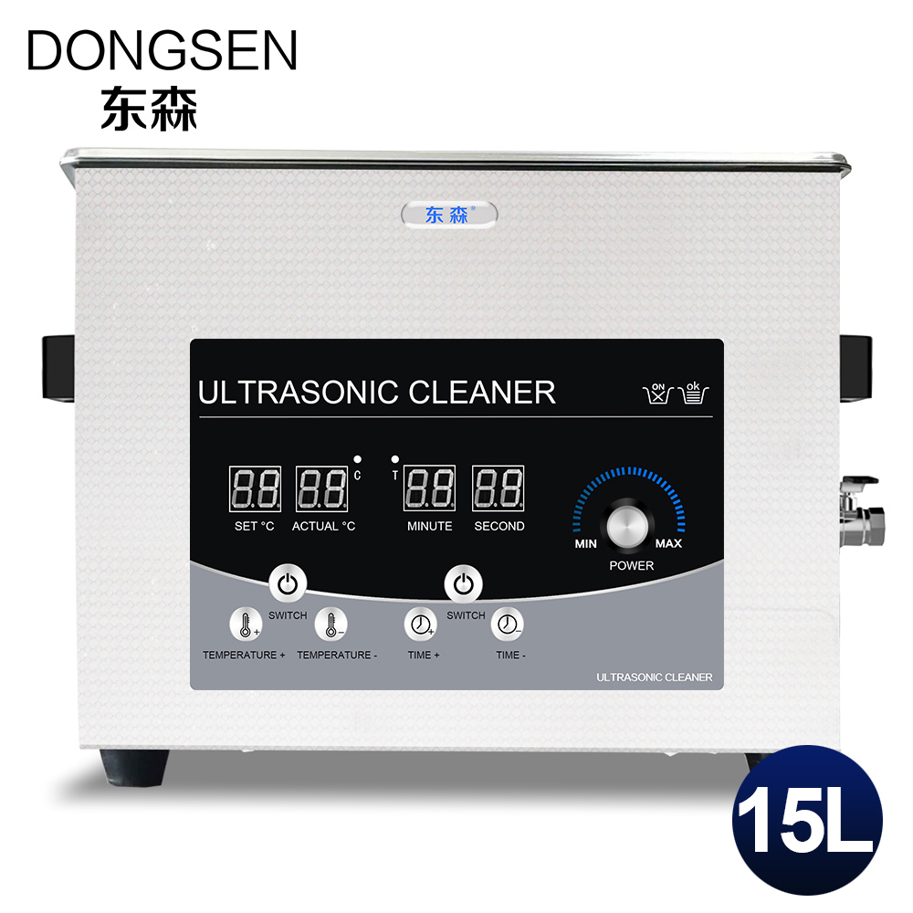 15L Ultrasonic Cleaner Bath Heat Time Adjustment Car Parts PCB Board Mold Metal Hardware Glassware Degreasing Ultrasound Washer