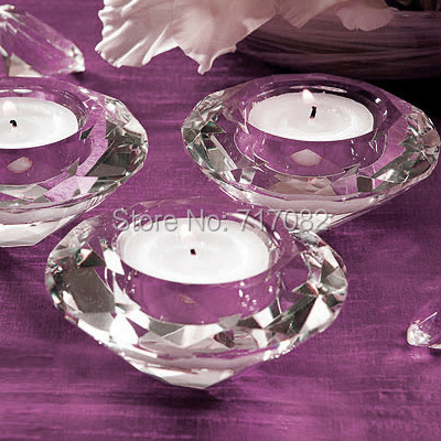 45pcs/lot k9 crystal candle holders, tealight candle holders for wedding centerpieces and decor