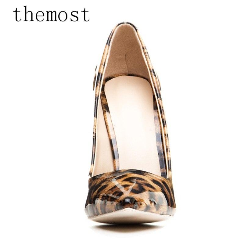 Femininas Los La Charol Alto Leopardo Las De Tiempo Del Multiple Mujeres Sexy Señoras Bombea 2018 Establecido Zapatos Tacón Manera Themost UqwSRR