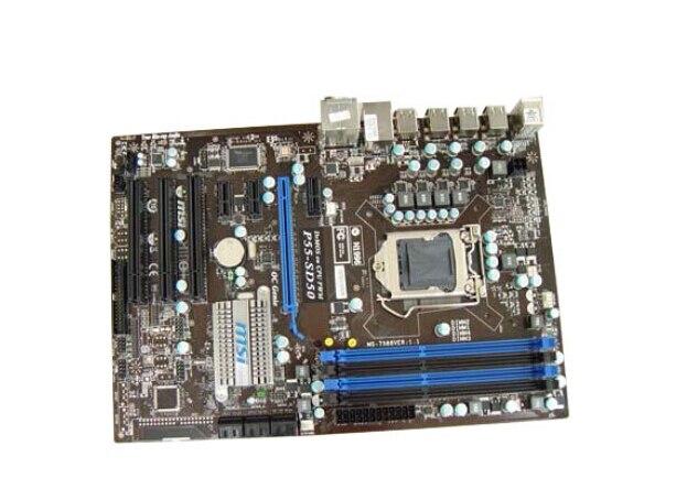 Первоначально материнская плата для MSI P55-SD50 LGA 1156 DDR3 для i5 i7 процессор P55 рабочего Материнская плата Бесплатная доставка