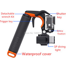 for Gopro Hero5 3+4 Accessories Shutter Stabilizer Trigger Floating Handle Mount Hand Grip Tripod Monopod for Gopro Sport Camera