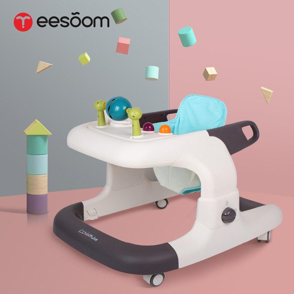 Bébé musique walker 6-18 mois multi-fonction anti-retournement push peut s'asseoir bébé apprentissage marche bébé poussette USA livraison gratuite