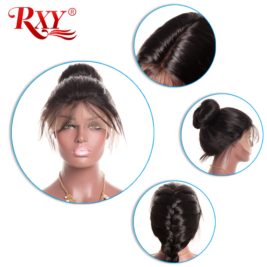 RXY Lace Front Human Hair Wigs For Black Women Pre Plucked Full Lace Human Hair Wigs With Baby Hair Brazilian Body Wave Non Remy (3)