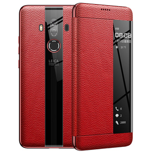 Image 5 - For Huawei Mate 10 Pro 9 pro Genuine leather case Phone protection windows view true flip leather case cover for huawei mate 10