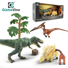6pcs Simulation Dinosaur Toys Model Set For Child Wild Park Animals Toy Boys Action Figure Playing Kids Education