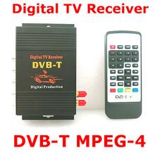 DVB-T samochodu 140-200 km h HD MPEG-4 dwa układu Tuner dwie anteny DVB T telewizji cyfrowej Tuner odbiornik zestaw TOP BOX tanie tanio Black DVB-T 618 VHF-H 174~230Mhz UHF 470~862Mhz 130*120*27mm 12 v XEOWYN 3 way video output for reversing video input or other audio or video input