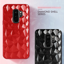 ФОТО luxury ultra thin soft tpu phone case for samsung galaxy s9 s8 plus 3d diamond pattern cases for samsung a8 plus 2018 cover capa