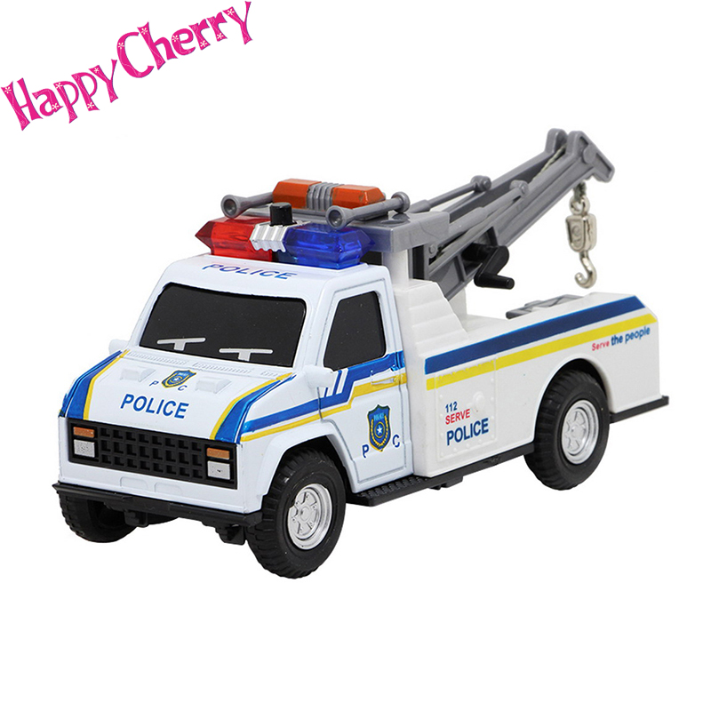 happy cherry kids cool police crane cop car model