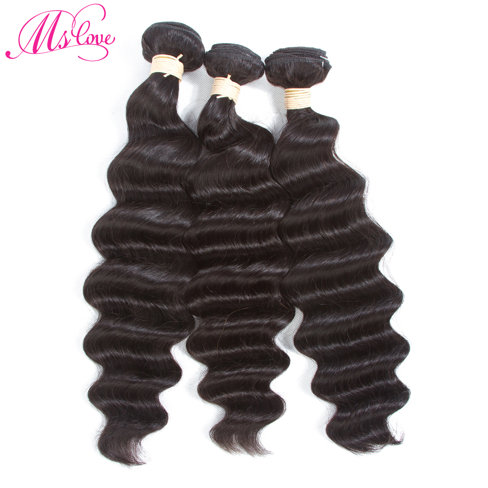 Deep Wave Malaysian Hair Weave Bundles Non Remy Hair Weaving Human Hair Extension 1B Natural Black