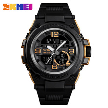 SKMEI Digital watch Luxury Brand Men Analog  PU Sports Watches Men's Army Military Watch Man electronic Clock Relogio Masculino все цены